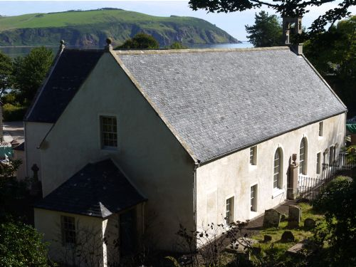East Church, Cromarty with new lime harl