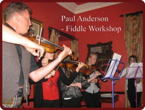 Paul Anderson fiddle workshop, Braemar